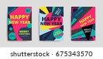 merry christmas new year design ... | Shutterstock .eps vector #675343570