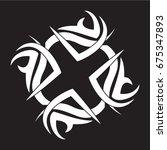 flat black ornament icon | Shutterstock .eps vector #675347893