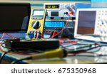 devices in electronics... | Shutterstock . vector #675350968