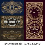 set of old cards   Shutterstock .eps vector #675352249