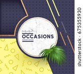 circle border design featuring... | Shutterstock .eps vector #675355930