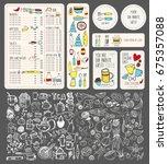 vector restaurant brochure ...   Shutterstock .eps vector #675357088