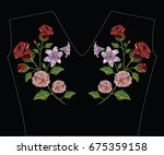 embroidery stitches with... | Shutterstock .eps vector #675359158