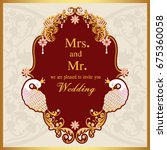 wedding invitation or card with ...   Shutterstock .eps vector #675360058