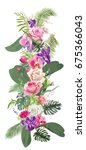 floral tropical vertical border ... | Shutterstock .eps vector #675366043
