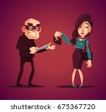 thief man character robs... | Shutterstock .eps vector #675367720