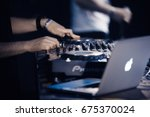 moscow 12june 2016  tour dj of... | Shutterstock . vector #675370024