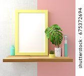 modern pastel coloured mock up... | Shutterstock . vector #675372694