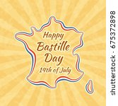 happy bastille day and 14th... | Shutterstock .eps vector #675372898