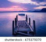 Sunset On Lake Garda  Italy. A...