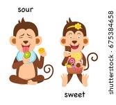 opposite sour and sweet vector... | Shutterstock .eps vector #675384658