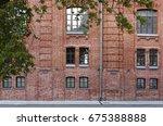 Facade Of A Brick Building. Th...