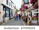 padstow  cornwall  uk. june 29  ... | Shutterstock . vector #675390244