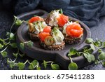 Delicious Canape With Salmon ...