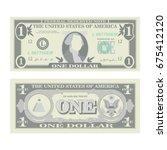 1 dollar banknote vector.... | Shutterstock .eps vector #675412120