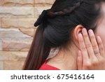 Tinnitus  Young Woman Has Pain...