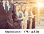 close up of businessman... | Shutterstock . vector #675416530