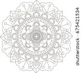 mandala. coloring book pages. | Shutterstock . vector #675421534