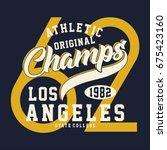 graphic athletic original... | Shutterstock .eps vector #675423160