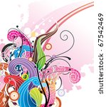abstract curves vector... | Shutterstock .eps vector #67542469