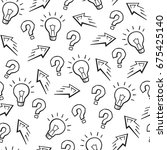 experiment sign  idea symbol ... | Shutterstock .eps vector #675425140