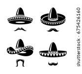 sombrero set. vector | Shutterstock .eps vector #675426160