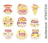 pizza house  menu premium...   Shutterstock .eps vector #675427210