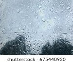 water drops on greenhouse glass.... | Shutterstock . vector #675440920