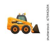 mini loader vector cartoon... | Shutterstock .eps vector #675442654