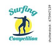 surfing festival banner for... | Shutterstock .eps vector #675447139