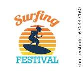 surfing festival banner for... | Shutterstock .eps vector #675447160