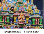 colorful night view of indian... | Shutterstock . vector #675455554