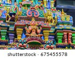 colorful night view of indian... | Shutterstock . vector #675455578