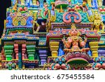 colorful night view of indian... | Shutterstock . vector #675455584