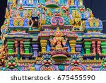 colorful night view of indian... | Shutterstock . vector #675455590