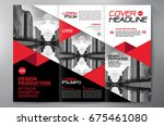 business brochure. flyer design.... | Shutterstock .eps vector #675461080