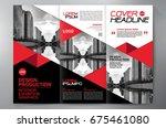 business brochure. flyer design....   Shutterstock .eps vector #675461080