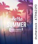 summer banner tropical... | Shutterstock .eps vector #675462193