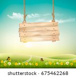summer nature background with... | Shutterstock .eps vector #675462268