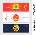 diwali web banner design... | Shutterstock .eps vector #675463429
