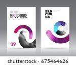 magazine cover layout design...   Shutterstock . vector #675464626