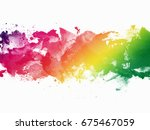 abstract artistic watercolor...   Shutterstock . vector #675467059
