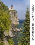Split Rock Lighthouse On Lake...
