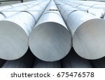 heap of aluminium bar in... | Shutterstock . vector #675476578