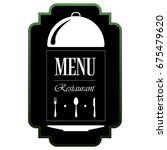 isolated menu label on a white... | Shutterstock .eps vector #675479620
