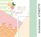 hello august abstract...   Shutterstock .eps vector #675485770