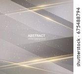 neutral geometrical gray... | Shutterstock .eps vector #675488794