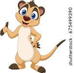 Cartoon Meerkat Posing