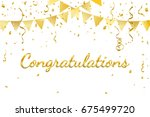 Congratulations With Golden...