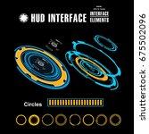 futuristic virtual graphic...   Shutterstock .eps vector #675502096